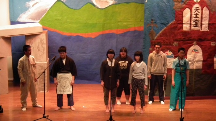 小値賀中学校2年生の創作劇